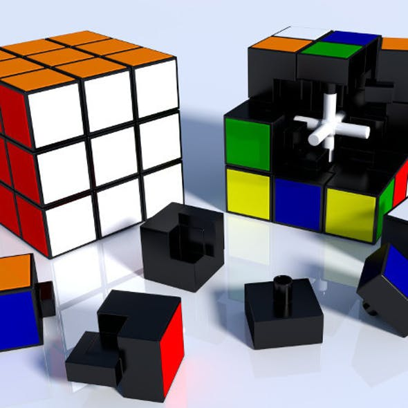 Rubik Cube High Detail