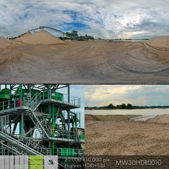 MW3DHDR0010 Gravel Sand Plant in Germany