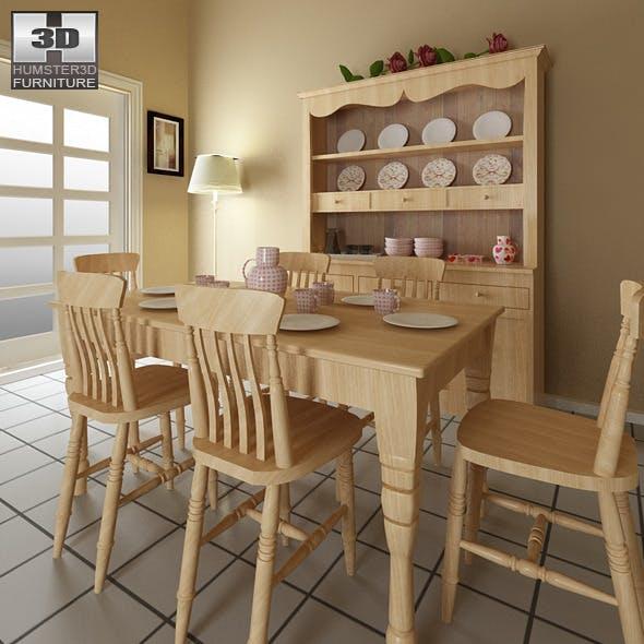 Dining room furniture 6 Set  - 3DOcean Item for Sale