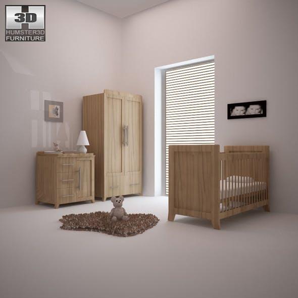 Nursery room furniture 09 Set - 3DOcean Item for Sale