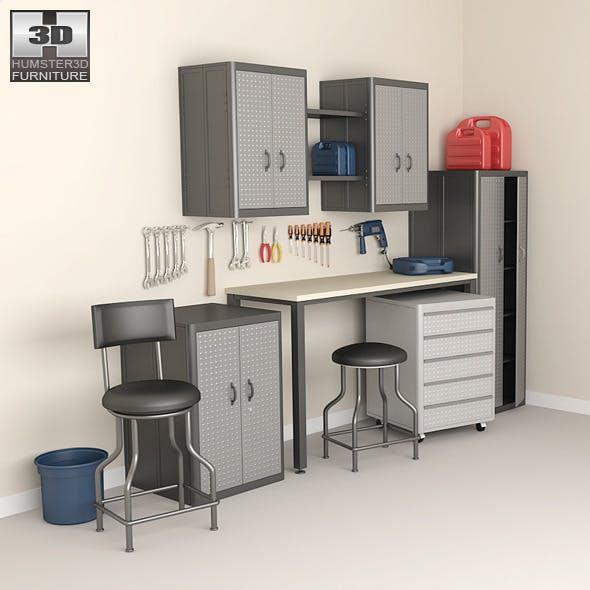 Garage furniture 05 Set - 3DOcean Item for Sale