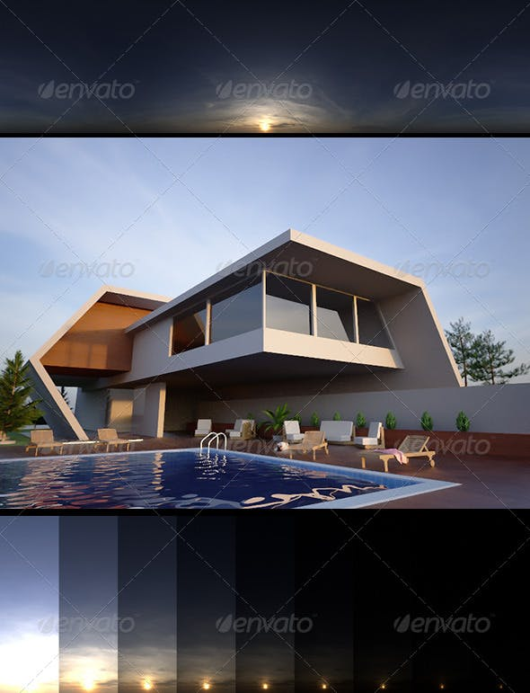 Realsky HDRI Sunset 1808 - 3DOcean Item for Sale