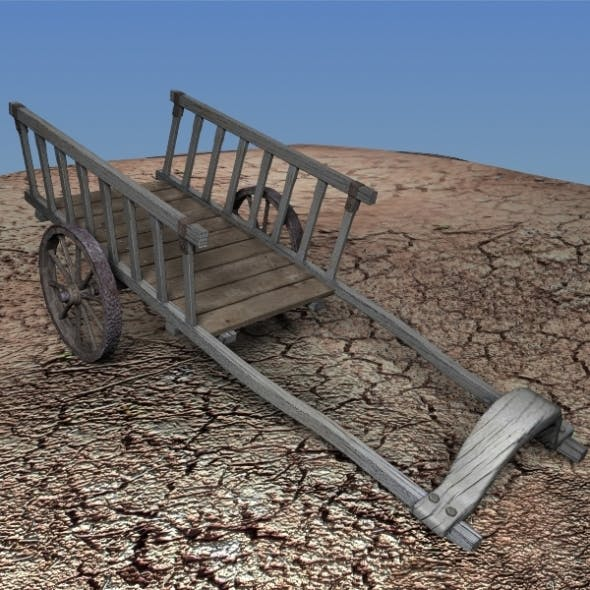 Old Wood Carriage HIGH detail - 3DOcean Item for Sale