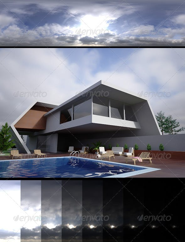 Realsky HDRI Blue Cloudy 1430 - 3DOcean Item for Sale