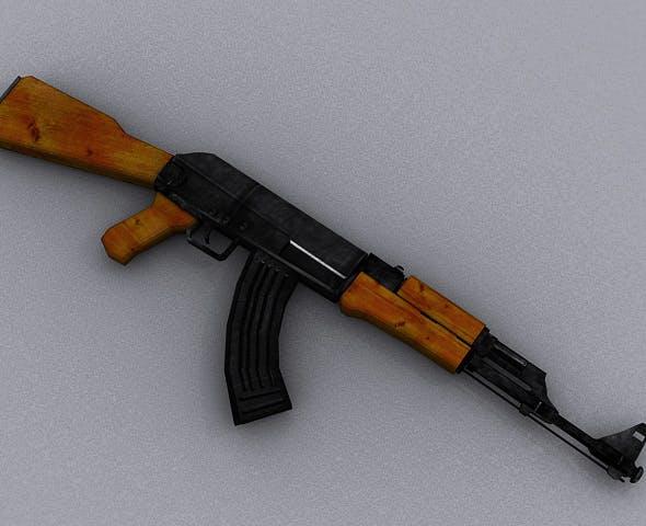 AK47 Assault Rifle - 3DOcean Item for Sale