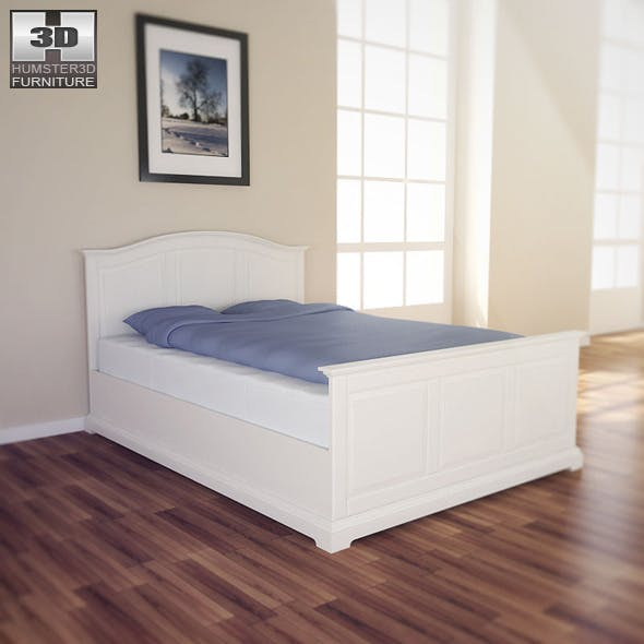 IKEA BIRKELAND Bed - 3D Model.  - 3DOcean Item for Sale