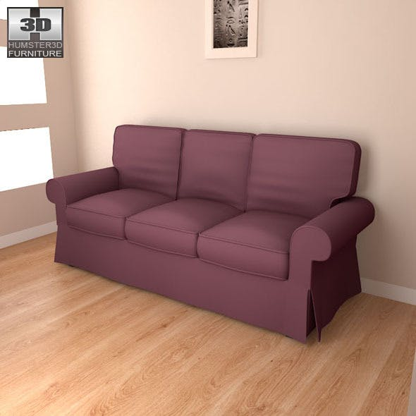 IKEA EKTORP sofa - 3D Model. - 3DOcean Item for Sale