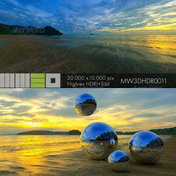 MW3DHDR0011 Sunset in Patong Beach Phuket Thailand - 3DOcean Item for Sale
