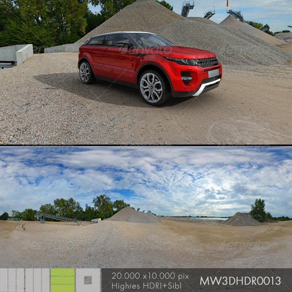 MW3DHDR0013 Gravel Sand Plant in Germany - 3DOcean Item for Sale