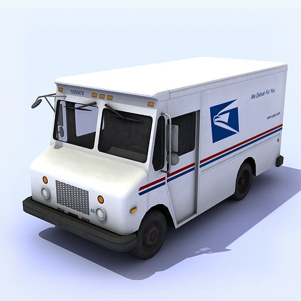 USPS Mail Truck - 3DOcean Item for Sale