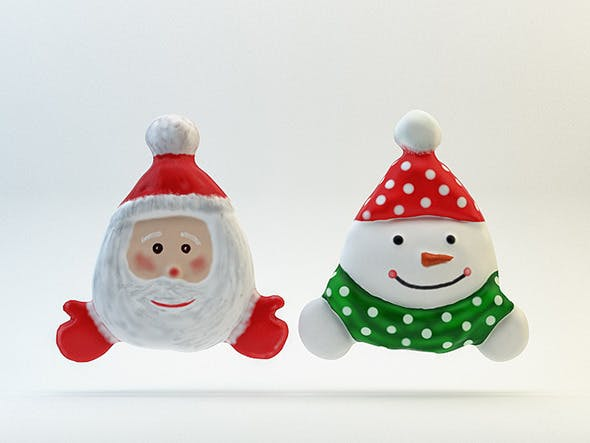 Santa and Snowman  - 3DOcean Item for Sale