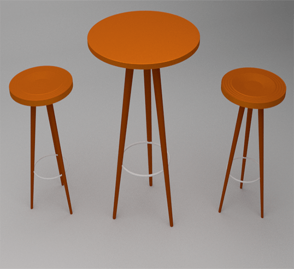 Chairs and Table - 3DOcean Item for Sale