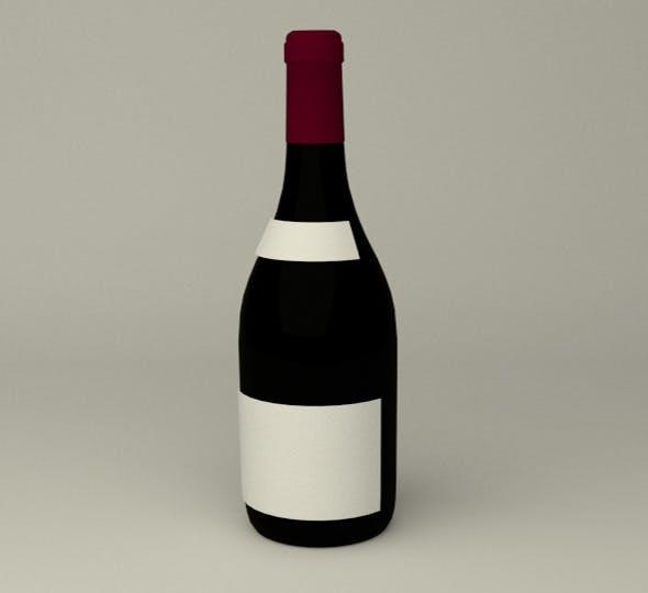 Wein Bottle - 3DOcean Item for Sale