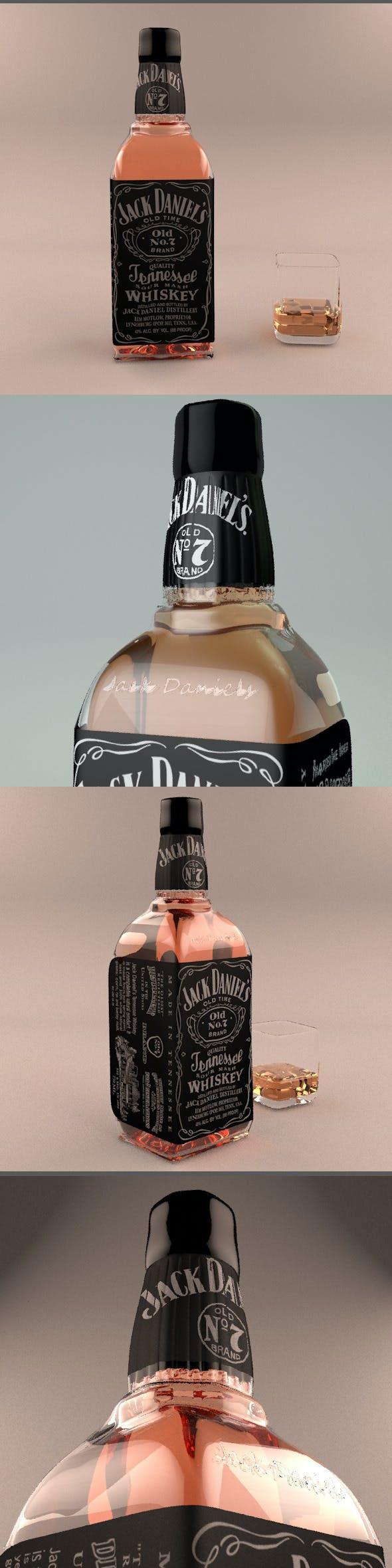 Jack Daniels Bottle - 3DOcean Item for Sale