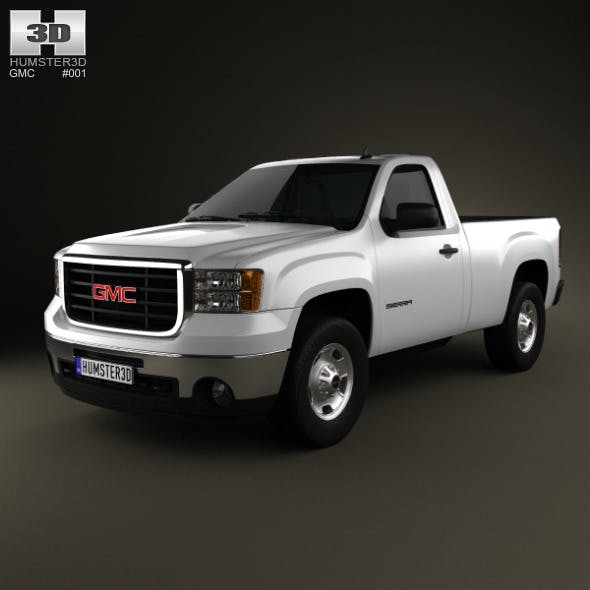 GMC Sierra Regular Cab Standard Box 2011 - 3DOcean Item for Sale