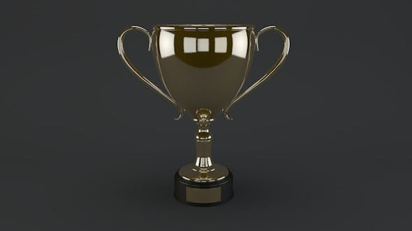 Gold trophy - 3DOcean Item for Sale