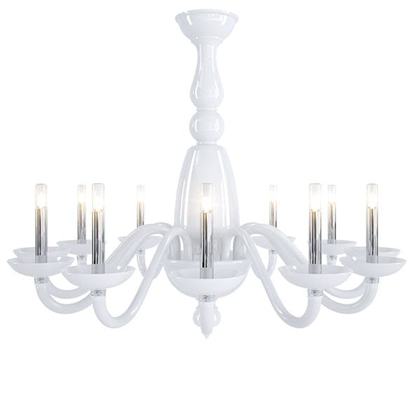 Barovier&toso Palladiano chandelier  - 3DOcean Item for Sale