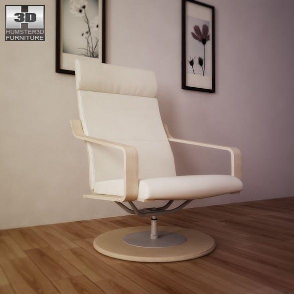 IKEA POANG Swivel armchair - 3D Model. - 3DOcean Item for Sale