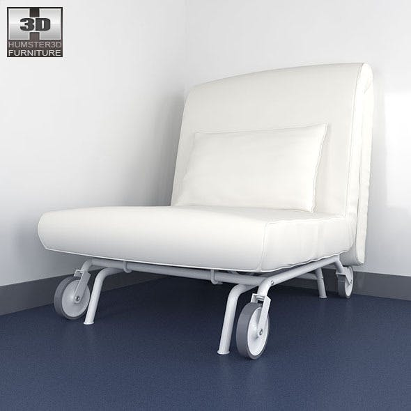 IKEA PS LOVAS Chair-bed 3D Model. - 3DOcean Item for Sale