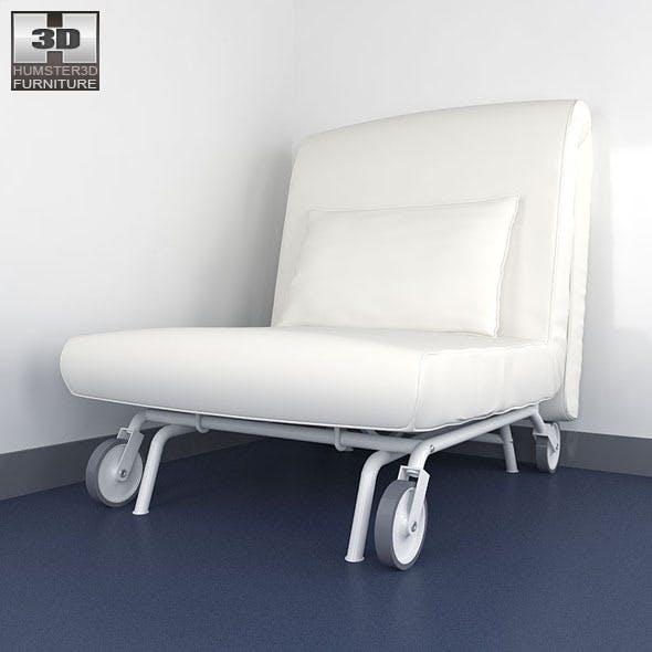 IKEA PS LOVAS Chair-bed 3D Model.
