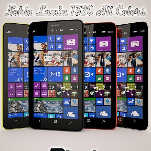 Nokia Lumia 1320 All Color