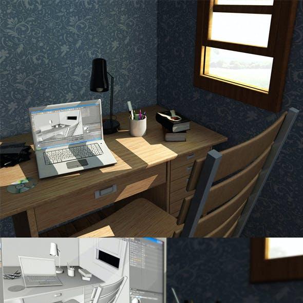 Realistic Study Room