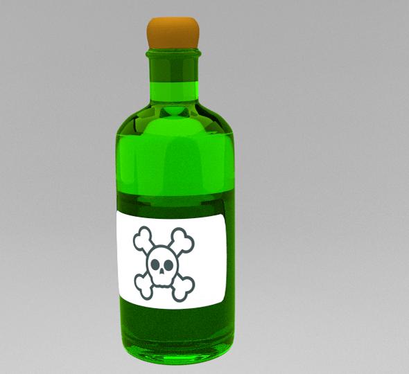 Poison Bottle - 3DOcean Item for Sale