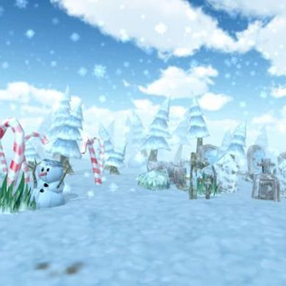 Lowpoly Forest - Winter