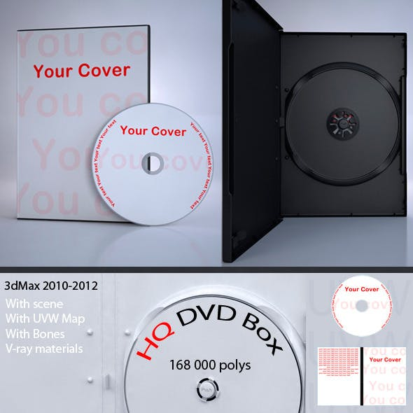 High Quality 3d model of DVD Box