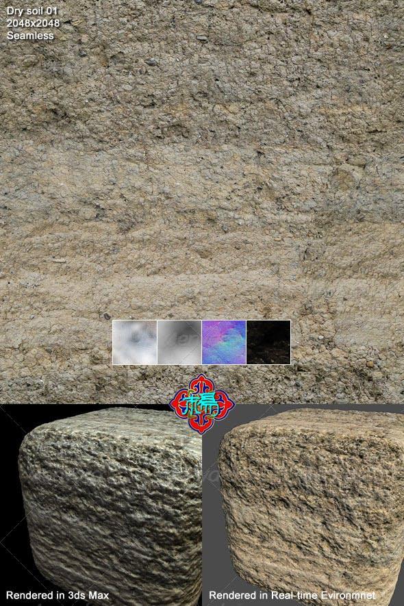 Dry soil texture 01 - 3DOcean Item for Sale