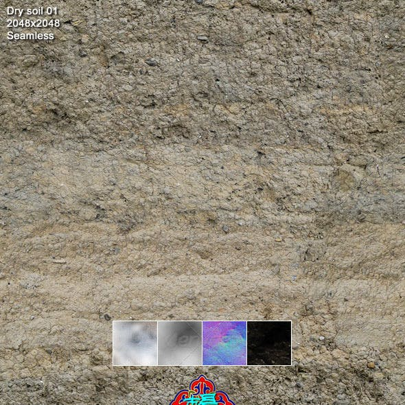 Dry soil texture 01