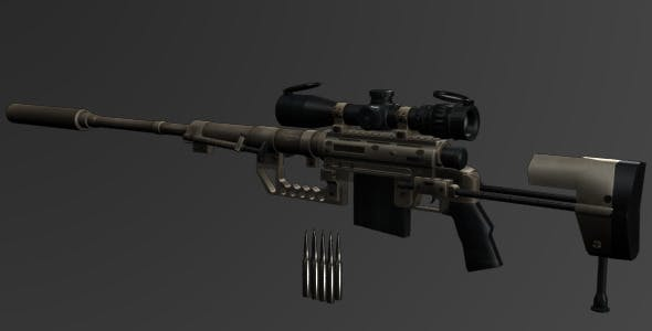 CheyTac M200 Intervention Sniper Rifle - 3DOcean Item for Sale