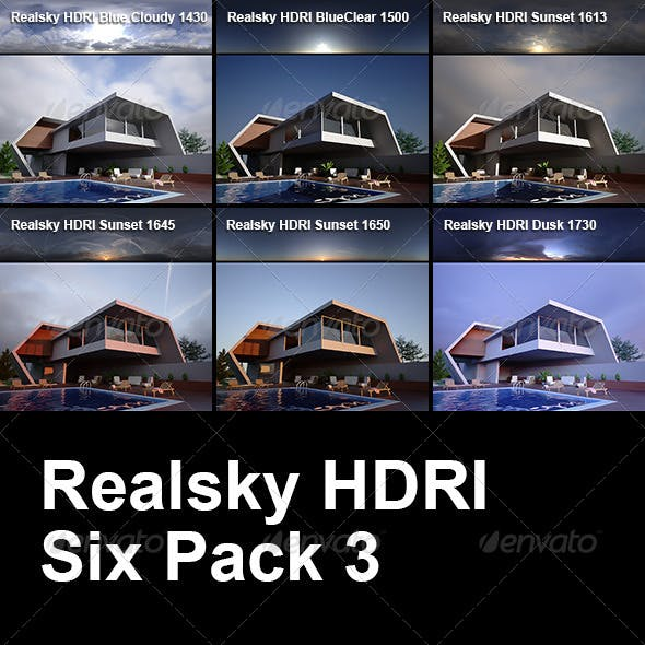 Realsky HDRI Six Pack 3 - 3DOcean Item for Sale