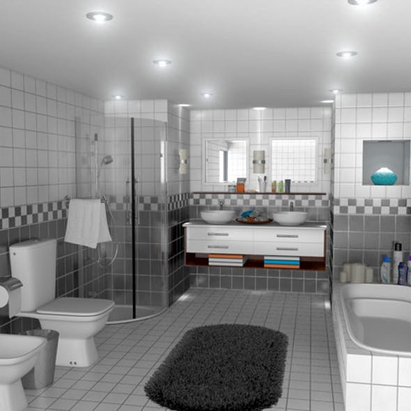 Realistic Bath Room