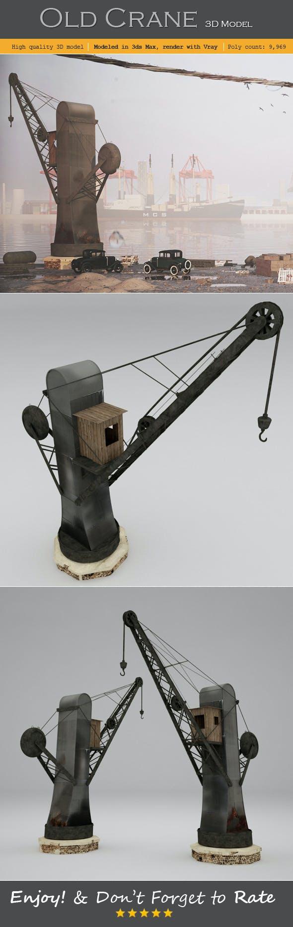 Old Crane - 3DOcean Item for Sale