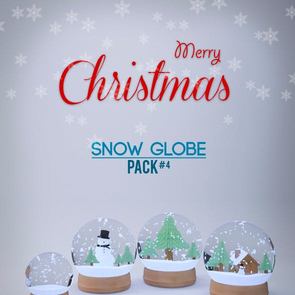 Snow Globe 3D Models Pack