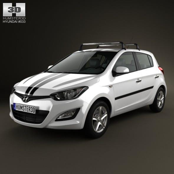 Hyundai i20 5-door 2013 - 3DOcean Item for Sale