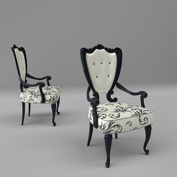 Luxury Art Nouveau Chair 298P - 3DOcean Item for Sale