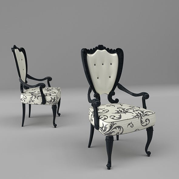 Luxury Art Nouveau Chair 298P