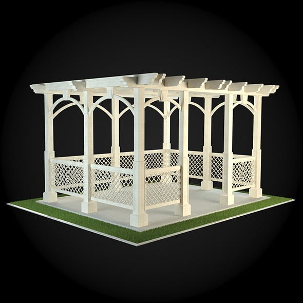 Pergola 012 - 3DOcean Item for Sale