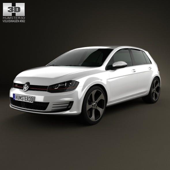 Volkswagen Golf 5-door GTI 2014 - 3DOcean Item for Sale
