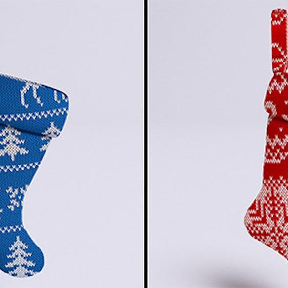 Christmas stockings (VrayC4D)