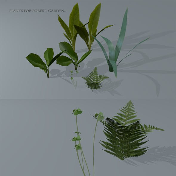 Low Poly Plants