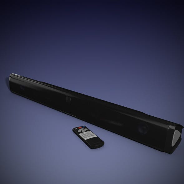 Sound bar Speaker - 3DOcean Item for Sale