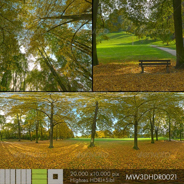 MW3DHDR0021 Autumn in the City Park Germany