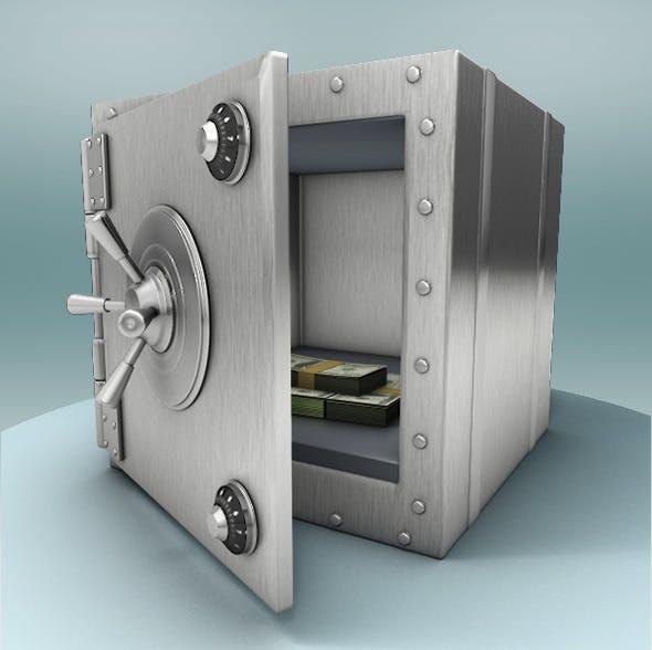 Metal Safe for Money Deposit - 3DOcean Item for Sale