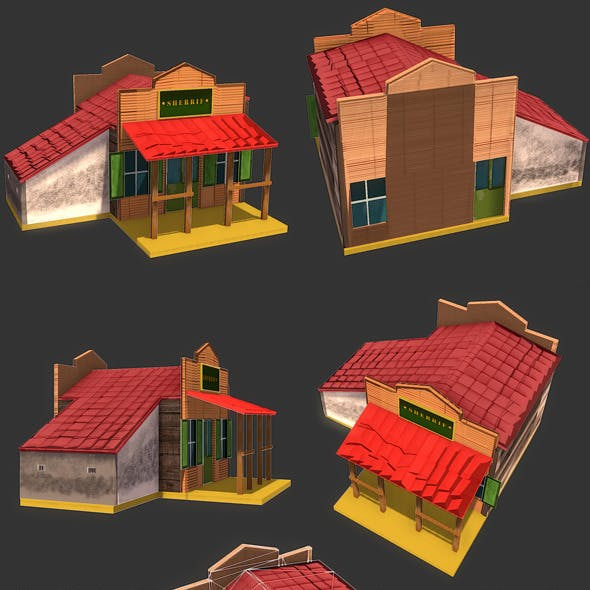 Low Poly Wild West Sheriff Office