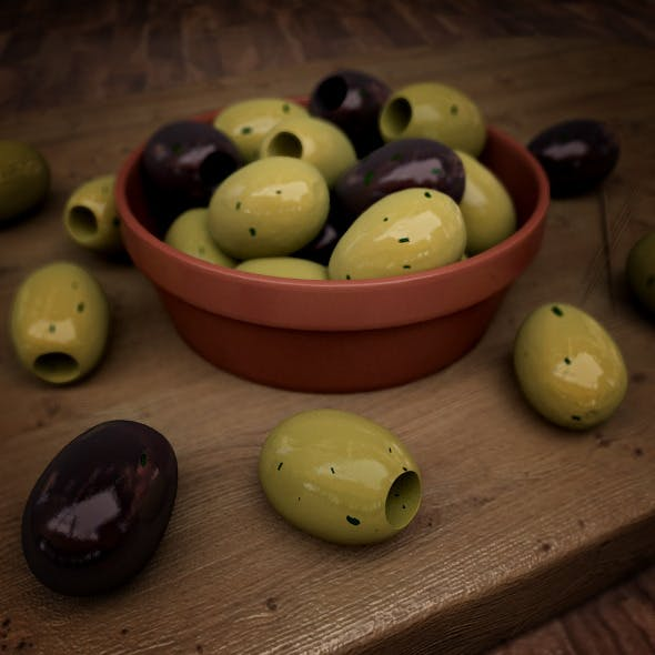 Photo-real Olives - 3DOcean Item for Sale