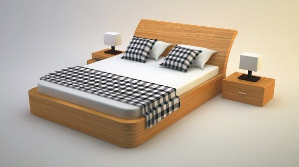 Bed 3 - 3DOcean Item for Sale