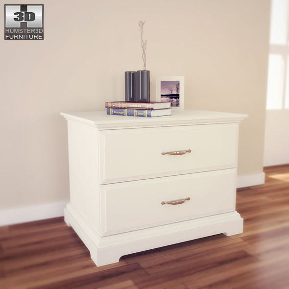 IKEA BIRKELAND Chest of 2 drawers - 3D Model.  - 3DOcean Item for Sale